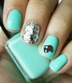 Nail Art Elephant