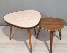 Vintage Tische - 2 kl. Nierentischchen / Blumenhocker *Mid Century - ein Designerstück von Mid-Century-Frankfurt bei DaWanda