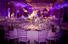 Modern uplighting for weddings and corporate events   Miami and South Florida