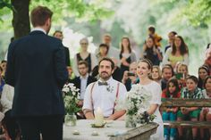 Take a look at the beautiful and relaxed garden wedding of Isa & Oliver in Schloss Mühlbach am Manhartsberg / Lower Austria. Garden Wedding, Marriage, Table Decorations, Wedding Dresses, Beautiful, Valentines Day Weddings, Bride Dresses, Bridal Gowns, Wedding Dressses