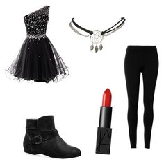 """Black out"" by letbartley ❤ liked on Polyvore featuring Wet Seal, Max Studio, Avenue and NARS Cosmetics"