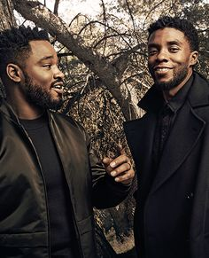 "fikfreak: "" theavengers: ""Chadwick Boseman and Ryan Coogler for Variety "" These two right here? Oh yeah…those are some good looking men! Jackie Robinson, James Brown, My Black Is Beautiful, Beautiful Men, Carolina Do Sul, Black Panther Chadwick Boseman, Panther Pictures, Ryan Coogler, Black King And Queen"