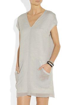 Helmut Lang|HELMUT Helmut Lang Breeze crinkled-gauze dress|NET-A-PORTER.COM