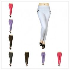 wholesale 12 pieces women 4 pockets slimming jeggings style 2 assorted colors