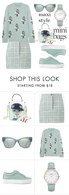 """""""Mini bag maxi style"""" by puljarevic ❤ liked on Polyvore featuring WithChic, Natasha Zinko, TOMS, Prada, CLUSE and minibags"""