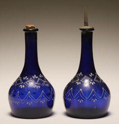Victorian barber's bottles