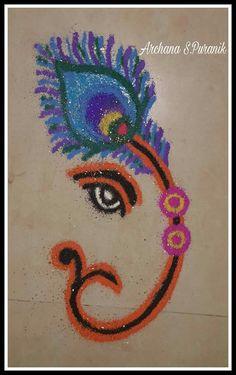 - easy rangoli designs for diwali Easy Rangoli Designs Diwali, Rangoli Simple, Rangoli Designs Flower, Rangoli Border Designs, Colorful Rangoli Designs, Rangoli Ideas, Diwali Rangoli, Flower Rangoli, Beautiful Rangoli Designs