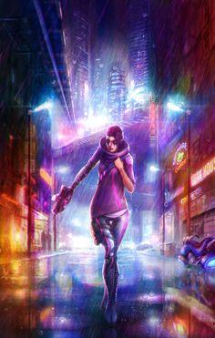 #CYBERPUNK, Hologram Dystopia, Neo-Noir