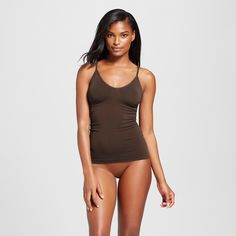 Women's Pajama Seamless Camisole - Coffee Bean L, Foraging Brown