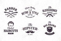 Barber Shop Emblems by Sergey Kandakov on Creative Market