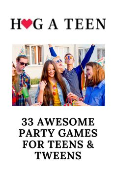 Check out these awesome ideas for some great teen party games that are sure to keep them entertained and laughing all night long! These party games for teens are sure to be a hit with any group of teenagers, whether they are boys or girls. They can be played indoors or outdoors, depending on what type of weather is in store for your day. Most are practically free and require little-to-no preparation time before the event begins. Indoor Games For Teenagers, Games For Teens, Outdoor Party Games, Teen Party Games, High School Activities, Activities For Teens, Parenting Teens, Parenting Hacks, Team Building Games