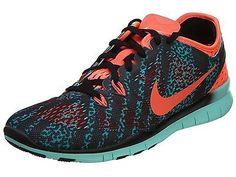 fc0c6ff065acb Nike Free 5.0 Tr Fit 5 Prt Womens 704695-007 Teal Lava Training Shoes Size  9.5