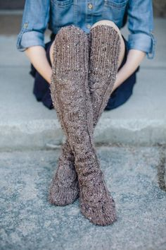 Standing Stones Stockings by Kalurah Hudson from Highland Knits: Knitwear Inspired by the Outlander