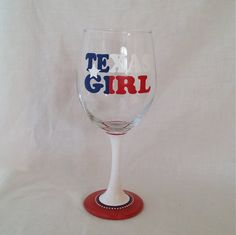 Hey, I found this really awesome Etsy listing at https://www.etsy.com/listing/182863777/texas-girl-hand-painted-wine-glass-red