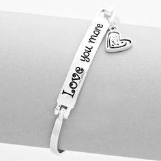 """""""LOVE YOU MORE"""" Bangle Bracelet """"LOVE YOU MORE"""" Bangle Bracelet Jewelry Bracelets"""