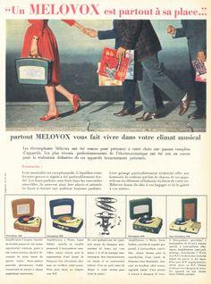 Electrophones Melovox - Paris Match, 3 mai 1958