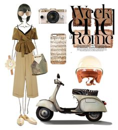 """""""Weekends in Rome"""" by safia-moizuddin ❤ liked on Polyvore featuring Rosie Assoulin, Acler, Jérôme Dreyfuss, Michael Kors, Urban Outfitters, Louis Vuitton, Urban Decay, Lara and vintage"""