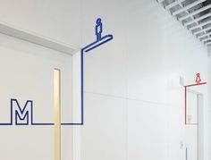 Female and Male WC symbol Toilet Signage, Bathroom Signage, Environmental Graphic Design, Environmental Graphics, Wc Symbol, Wc Icon, Visual Design, Design Design, Branding And Packaging