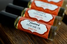 Ginger Tea Perfume Oil  Spicy Ginger Charred di FirebirdBathBody, $9,00