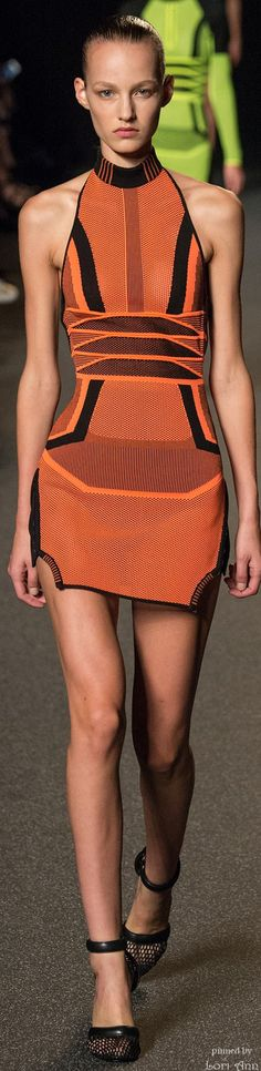 Alexander Wang Spring 2015 RTW #alexanderwang2015 great color&  very textural in detail shots. I hope the contrast is ok . the look is a bit hard, but textural hair& appropriate accessories should further de-scubaize the look.  Aaargh I know total outlier & it's really bugging me.