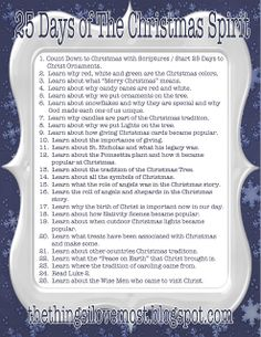 Christian Ideas for Christmas great to do with your kids. I am DEF starting these traditions this year I don't care how young my child is hearing about Jesus and the true meaning and teaching her now won't hurt.