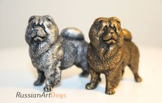 Chow Chow - miniature dog out of a tin pewter, statuette, figurine by RussianArtDogs on Etsy