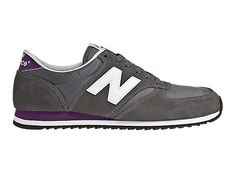 New Balance 420 - Grey with White & Purple