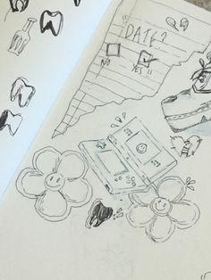 Indie Drawings, Cool Art Drawings, Art Drawings Sketches, Pretty Art, Cute Art, Grunge Art, Art Diary, Arte Sketchbook, Indie Art