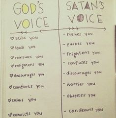 God's Voice. Listen closely & with discernment.