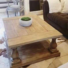 @mopearce Did A Beautiful Job Building Her Restoration Hardware Inspired Balustrade  Coffee Table!
