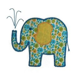 Elina  Elephant Machine Embroidery Applique by BigDreamsEmbroidery, $3.95