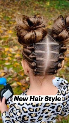 Cute Toddler Hairstyles, Easy Little Girl Hairstyles, Lil Girl Hairstyles, Braided Hairstyles, Hair Up Styles, Natural Hair Styles, Girl Hair Dos, Kid Hair, Crazy Hair