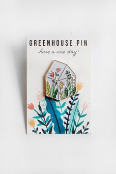 Green House Pin by Haveanicedayy on Etsy