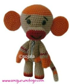 sock monkey sackboy free crochet pattern by Amigurumi To Go