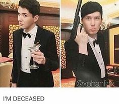 Phil with a gun? He'd probably accidentally shoot him self or something. 10/10 would not recommend.