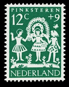 Post stamp designed by Hil Bottema