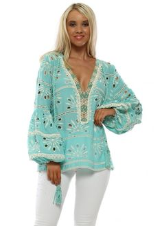 Buy the latest Designer Luxury Resort Wear online in the UK at Designer Desirables. Everything from luxury swimwear to luxury resort dresses & tops Long Sleeve Maxi, Maxi Dress With Sleeves, Designer Wear, Luxury Designer, Kaftan Tops, Turquoise Top, Luxury Swimwear, Holiday Tops, Resort Dresses