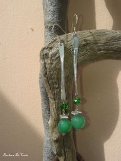 orecchini in alluminiocesellato e pietre dure