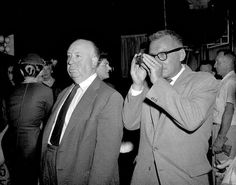 Alfred Hitchcock and Robert Burks