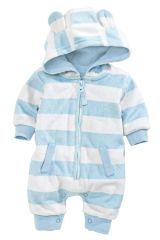 Stripe Faux Fur Romper (0-18mths) (877933X53) | £16.50