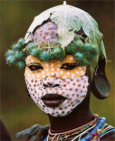 The Body Painting of the Surma Peoples. From the book: Natural Fashion: Tribal Decoration from Africa by Hans Silvester Cultures Du Monde, World Cultures, African Tribes, African Art, We Are The World, People Around The World, Moda Natural, Mursi Tribe, Tribal Face