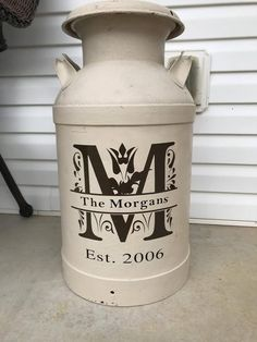 Milk Can Decal, Personalized Decal, Home Decor, Antique Milk Can Decal, Milk can decor - Modern Antique Milk Can, Vintage Milk Can, Décor Antique, Antique Decor, Antique Lamps, Country Decor, Farmhouse Decor, Milk Can Decor, Painted Milk Cans