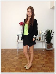 Look do Dia: Preto & Neon