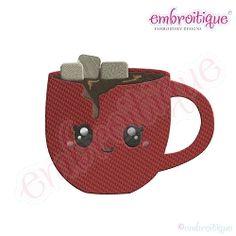Cutie Cocoa Mug - 7 Sizes! | Winter | Machine Embroidery Designs | SWAKembroidery.com Embroitique