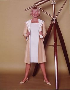 """sailor style coat from """"Glass Bottom Boat"""" (1966)"""