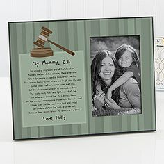 Find something special for the lawyer in your life with the My Mommy Legal Professional Personalized Photo Frame. Find the best personalized law gifts at PersonalizationMall.com