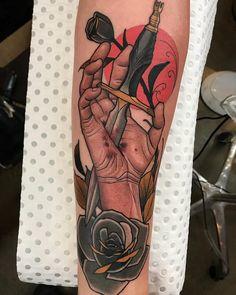 Dagger in Hand tattoo by @drewshallis at @voodoogosford in Central Coast, NSW Australia #drewshallis #voodoogosford #voodootattoo…