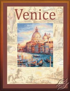Cities of the World. Venice - Cross Stitch Craft Kits by RIOLIS - PT-0030