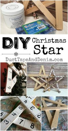 DIY Christmas Star, Christmas tree topper, decoration, ornaments and more on DuctTapeAndDenim.com