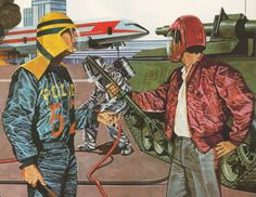 Future policemen by Neil Ardley, 1981